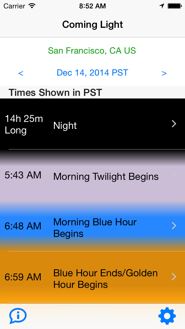 Coming Light App for iPhone and iPad